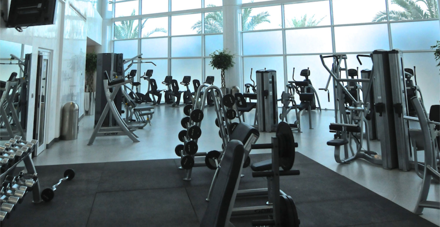 Gust fully equipped gym facilities