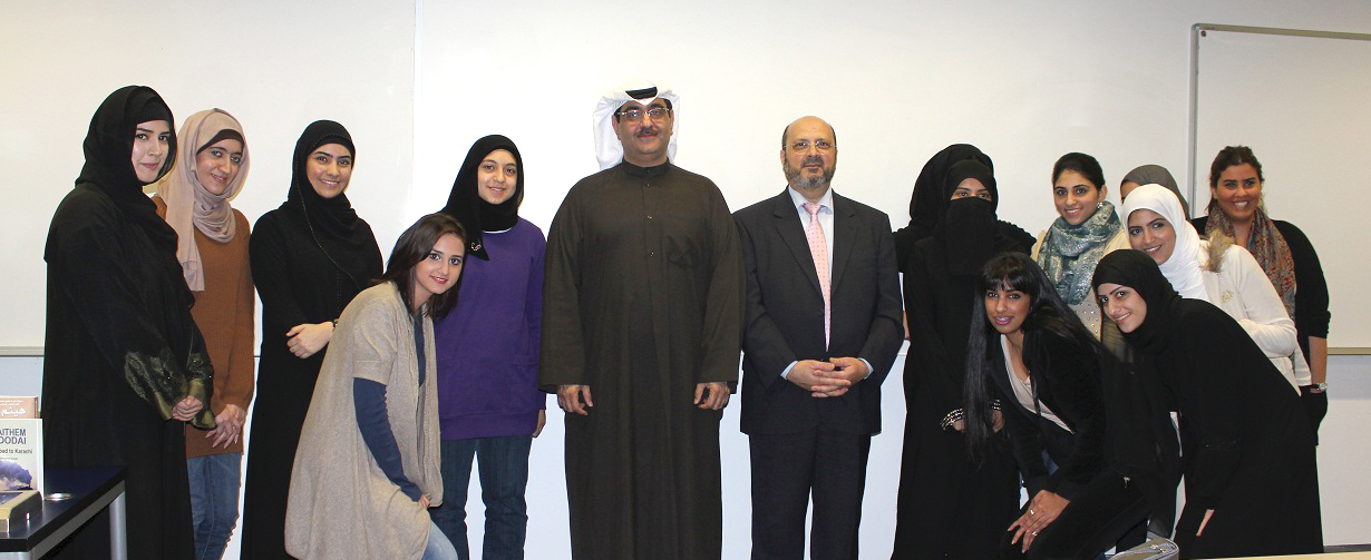 GUST Kuwait literature class has open dialogue with author